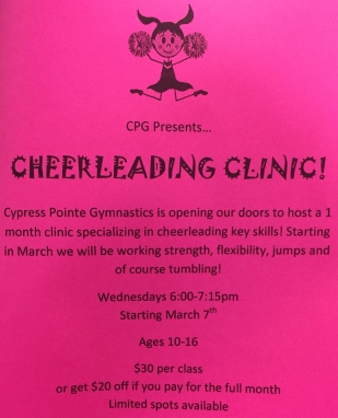 CPG March Cheer Clinic